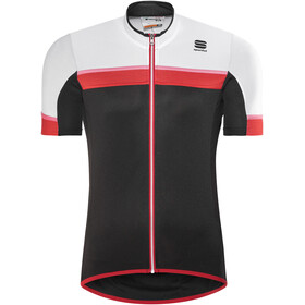 Sportful Pista SS Jersey Men, black/white/red-coral fluo